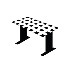 table black and white vector image vector image