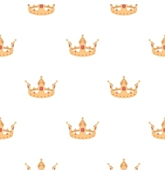 Crown icon in cartoon style isolated on white vector image vector image