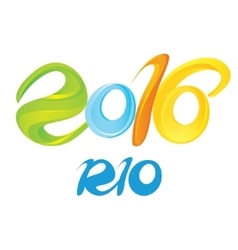 Sign symbol Rio olympics games 2016 vector image
