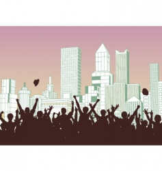 street celebration vector image vector image