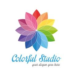 Colorful creative logo vector image