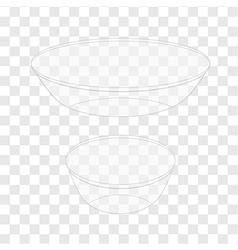 Glass bowl transparent vector