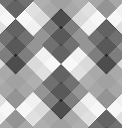 Monochrome gray seamless pattern geometric vector image vector image