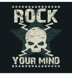 Rock t-shirt Typography vector image vector image
