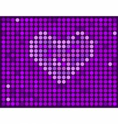 violet background with heart vector image vector image