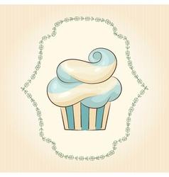 waved cupcake vector image vector image