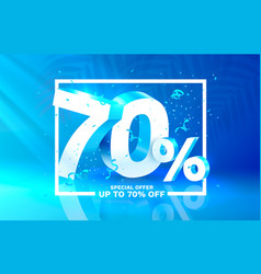 70 off discount creative composition 3d sale vector image