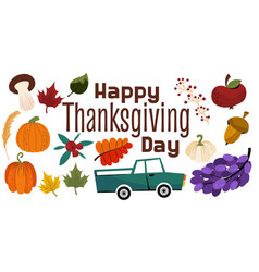 A clipart for thanksgiving holiday autumn vector