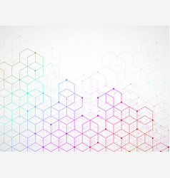 abstract colorful geometric background with cubes vector image