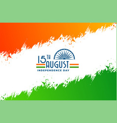 Abstract indian independence day banner design vector