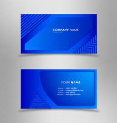 Abstract modern blue business card vector image