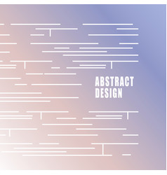 abstract modern white lines on gradient vector image