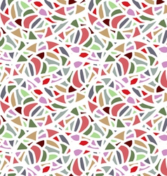 Abstract seamless mosaic pattern vector
