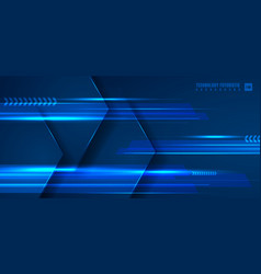 Abstract technology futuristic concept blue vector