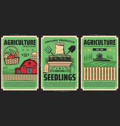 Agriculture industry cultivation farming agronomy vector