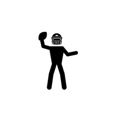 American football player iconelement of popular vector