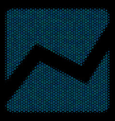 analytics chart mosaic icon of halftone bubbles vector image