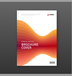 annual report cover design template for business vector image
