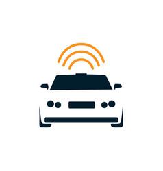 autonomous self driving car image design vector image