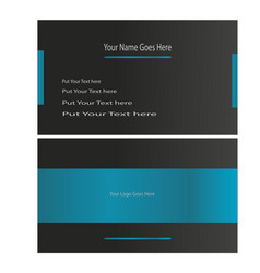 awesome modern and stylish business card vector image