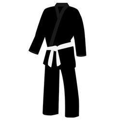 Black kimono vector image