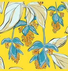 botanical summer print art repetiotion design vector image