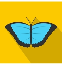 Butterfly with big wings icon flat style vector
