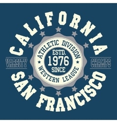 California t-shirt fashion vector