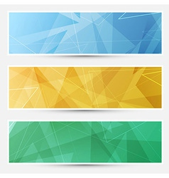 Collection of crystal structured cards vector