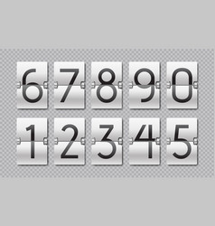 countdown numbers flip clock counter time vector image