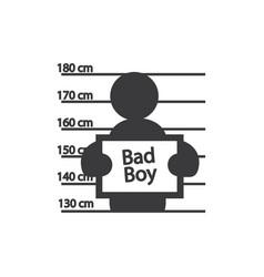 criminal posing icon vector image