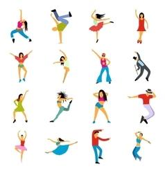 Dances flat icons set vector image