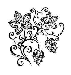 Decorative bush hop vector