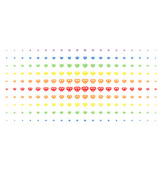 diamond spectrum halftone effect vector image