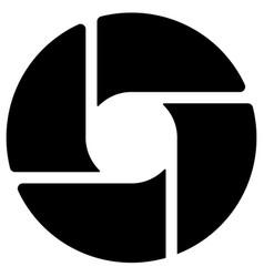 Diaphragm like circular symbol for photography vector