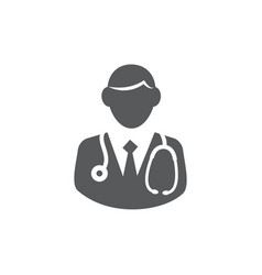 doctor icon on white background vector image