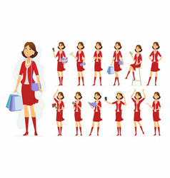 fashionable woman - cartoon people vector image