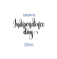 February 16 - independence day - lithuania hand vector