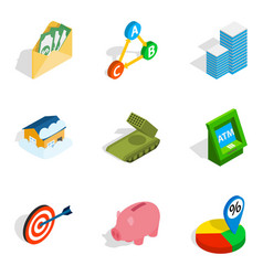 Feedback loop icons set isometric style vector