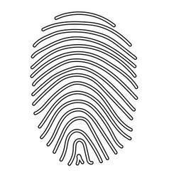 fingerprint the black color icon vector image