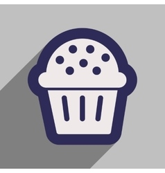 Flat icon with long shadow celebratory cake vector