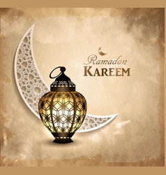 gold vintage luminous lantern vector image