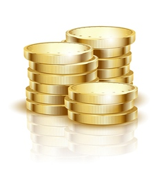 golden coins star vector image vector image