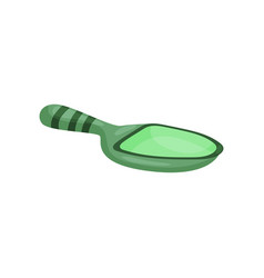 Green ceramic spoon tea ceremony symbol cartoon vector