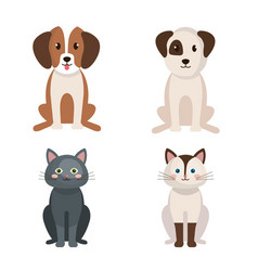 group of cute pets vector image