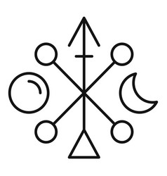 Hipster arrow alchemy icon outline style vector