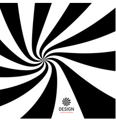 hypnotic spiral background with optical vector image