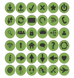 icon set circle vector image vector image