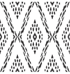 Ikat seamless pattern in ethnic style vector