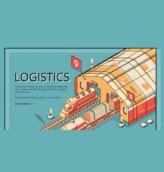 industrial logistics company website vector image
